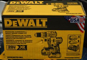 Dewalt 20-Volt MAX XR Lithium-Ion Cordless Brushless Drill/Impact Combo Kit (2-Tool) for Sale in Kent, WA