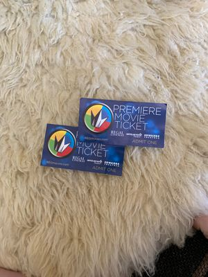 Two premier movie tickets for Sale in San Diego, CA