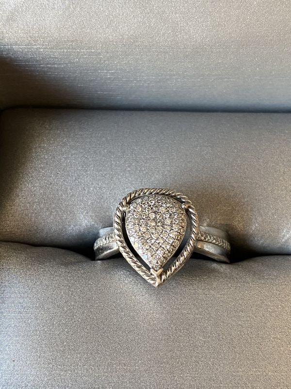 Size 6, 1/5 CT. Diamond Rope Framed Ring
