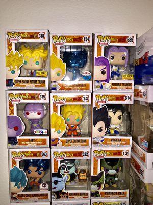 Dragon ball z funko pops collection for Sale in Dallas, TX