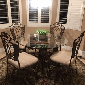 Table & Chairs ($300), Bar Stools ($100) And Corner hutch($200) $600 For All for Sale in Jamul, CA