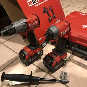 Milwaukee M18 Hammer Drill & Impact Driver Combo Kit with Two 5ah Battery And Charger for Sale in Hanover Park, IL