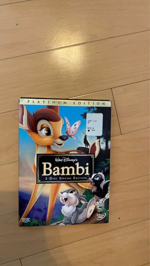 Movie (Bambi platinum edition and two disk edition) for Sale in Phoenix, AZ