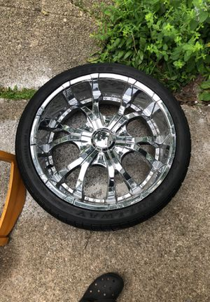 24 inch rims with tires 800 for Sale in South Euclid, OH