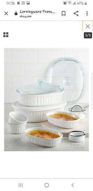 Corningware french white 10 piece for Sale in El Sobrante, CA