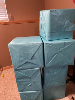7 boxes for sale used for party decor for Sale in Olathe, KS