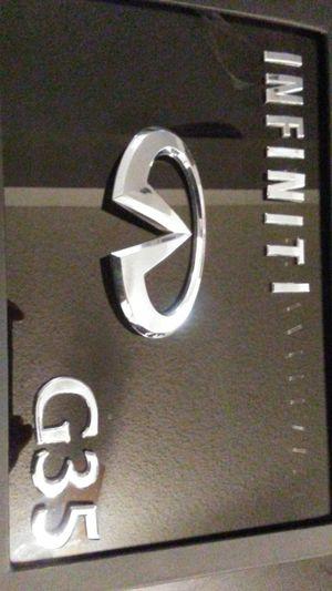 2006 infiniti G35 emblems trunk $30 for Sale in Fontana, CA