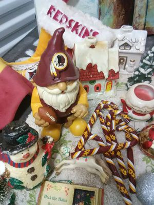 Christmas ornaments decorations figurines Santa Redskins for Sale in Takoma Park, MD