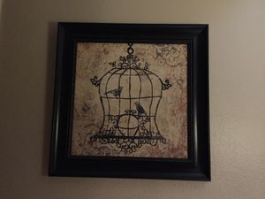 Bird cage picture for Sale in Tempe, AZ