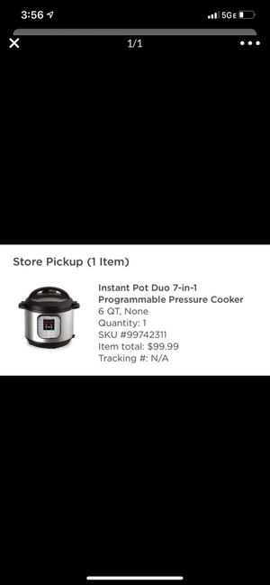 Instant Pot for Sale in Cleveland, OH