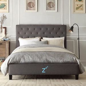 Platform Bed Frame With Tufted Headboard In Twin, Full, Queen, King, Cal King for Sale in Martinez, CA