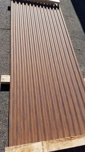 """24ga. 7/8"""" Corrugated roof and wall deck painted AZP Raw Rusty color. for Sale in Phoenix, AZ"""
