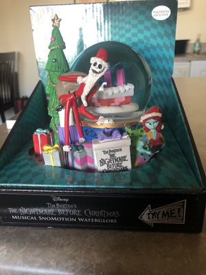 Nightmare Before Christmas Snowglobe for Sale in Ontario, CA
