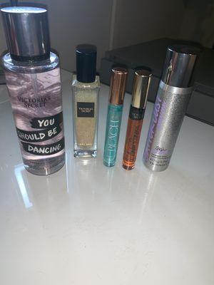 Victoria's Secret perfumes, fragrance mist, fragrance shimmer oil, shimmer spray for Sale in Fort Worth, TX