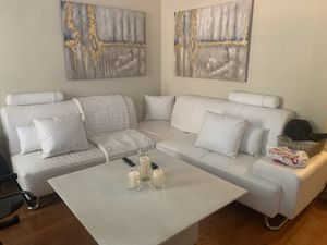 VIG Modern White Leather Sectional Sofa Couch for Sale in Baltimore, MD