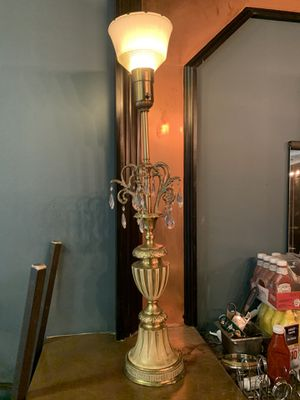 Metal lamp with crystals for Sale in Chicago, IL