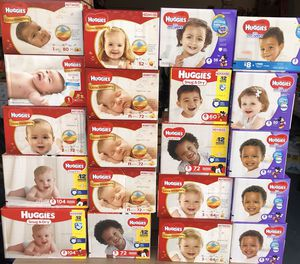 Huggies boxes $15 each (all sizes are available upon order) for Sale in Lehigh Acres, FL