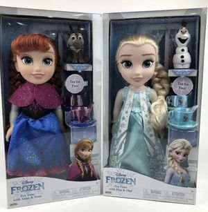 "Disney Frozen ""Tea Time"" tea sets and dolls - BRAND NEW for Sale in Covina, CA"