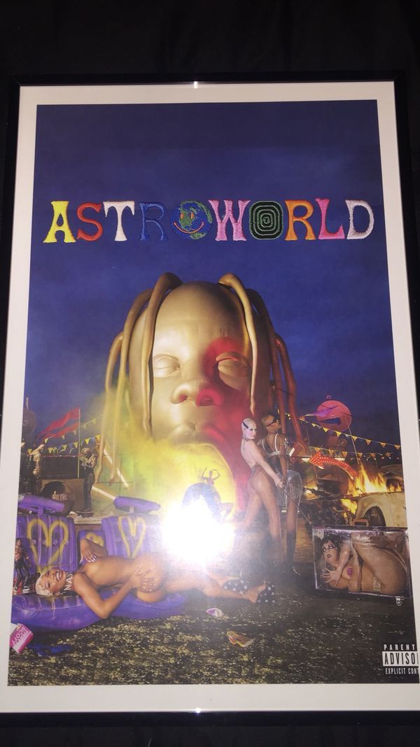 cd1836f0ff6f Travis Scott astroworld album cover print and poster in 11x17 inch glass  frame