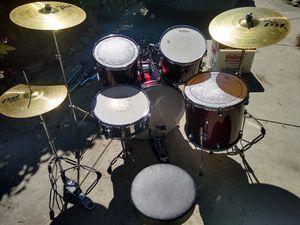 full drumset + cymbals + hardware for Sale in Santa Cruz, CA