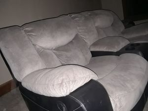 Suede leather couches for Sale in Wichita, KS