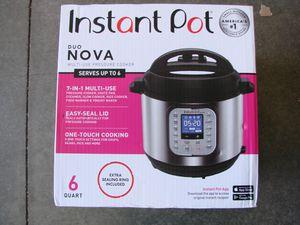 Instant Pot Duo Nova 7-in-1 Electric Pressure Cooker for Sale in South El Monte, CA