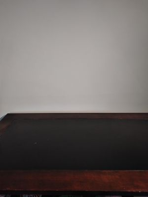 Wooden table with smoke glass center for Sale in Washington, DC