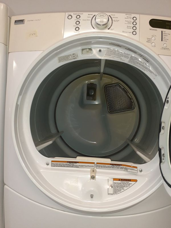 Kenmore front load washer and electric dryer set in excellent condition with 90 days warranty