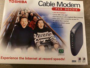 Toshiba cable modem 56k, PCX 2200 for Sale in Buffalo, NY