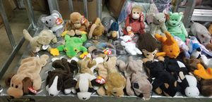 HUGE COLLECTION OF BEANIE BABIES OVER 65 SOME MIGHT BE RARE for Sale in Fairfax, VA