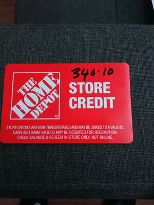 Home depot store credit for Sale in Hartford, CT