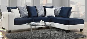 Blue and White Sectional Sofa Couch!! Brand New for Sale in Chicago, IL