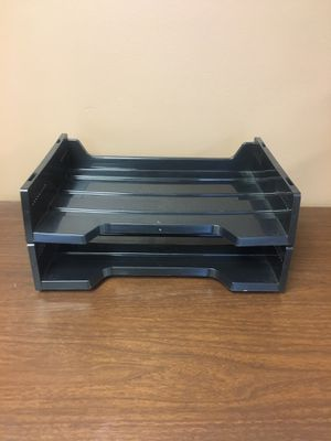 2 Black Plastic Filing Trays for the Office for Sale in Lincoln, NE