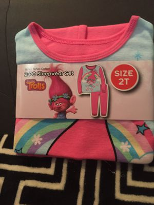 PAJAMAS. 1 Pair Size 2T 1 TROLLS for Sale in Hudson, FL