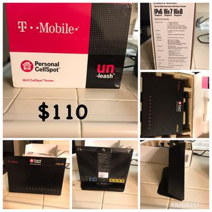 T-Mobile personal cell spot ASUS RT-1900P wireless router 1900MBPS **GREAT CONDITION** for Sale in Fresno, CA