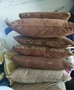 Brown and Beige Sofa Pillows $1 each for Sale in Avon Park, FL