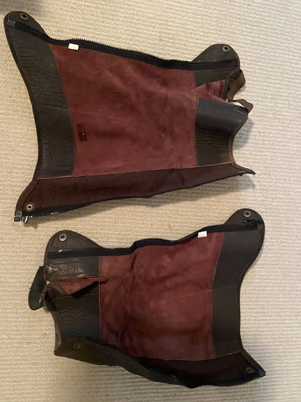 Used Leather Equestrian Half Chaps
