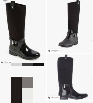 Micheal kors charm stretch rain boots size 7 for Sale in Portland, OR