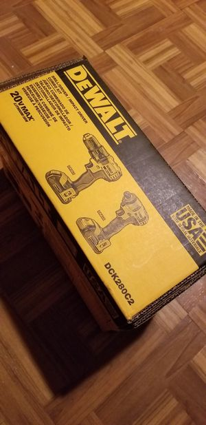 Dewalt Combo kit Drill and Impact Driver 20V for Sale in Norwalk, CA