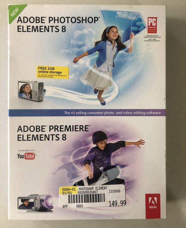 Adobe photoshop elements/adobe premiere 8