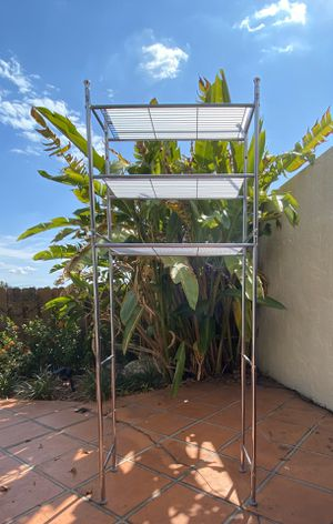 NEW shelf // silver. simple. already built. for Sale in Miami Gardens, FL