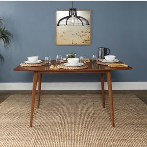 Walker Edison Furniture Company 60 in. Mid Century Wood Dining Table - Acorn for Sale in Fresno, CA