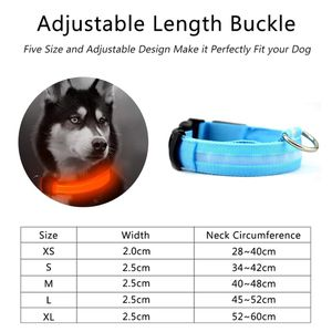 Nylon LED Pet dog Collar,Night Safety Flashing Glow In The Dark Dog Leash,Dogs Luminous Fluorescent Collars Pet Supplies for Sale in Bethesda, MD