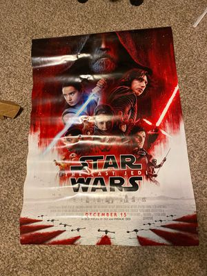 Star Wars The Last Jedi Authentic Movie Poster for Sale in Golden, CO