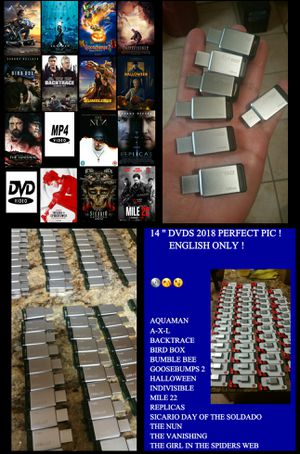 14 DVD MP4 FORMAT ON 16GB USB , PERFECT QUALITY! for Sale in Salt Lake City, UT