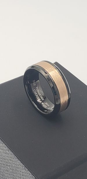 Black / Brushed Brass Tungsten Carbide Ring for Sale in Phoenix, AZ
