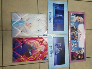 Disney's movie Frozen framed pictures of Elsa &Ana for Sale in Winter Garden, FL
