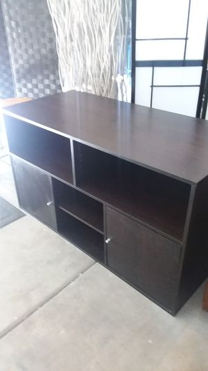 IKEA black brown tone tv stand for Sale in Chandler, AZ