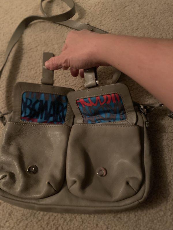 Perlina leather shoulder bag