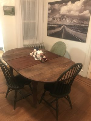 Antique Wood Dining Table with 3 Leaves for Sale in Philadelphia, PA